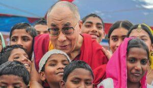 Dalai Lama with Children at McLeod Ganj