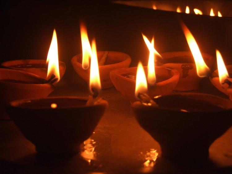 Divya lamps at Diwali
