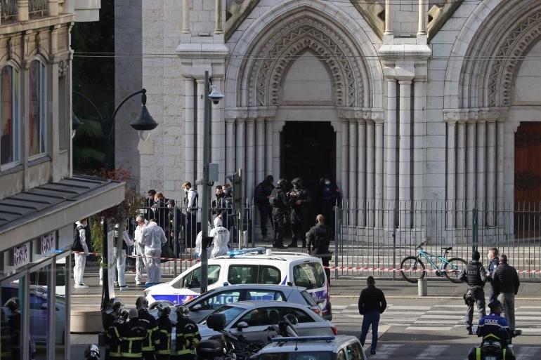 knife attack at basilica
