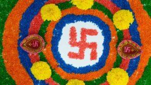 Swastika in Rangoli
