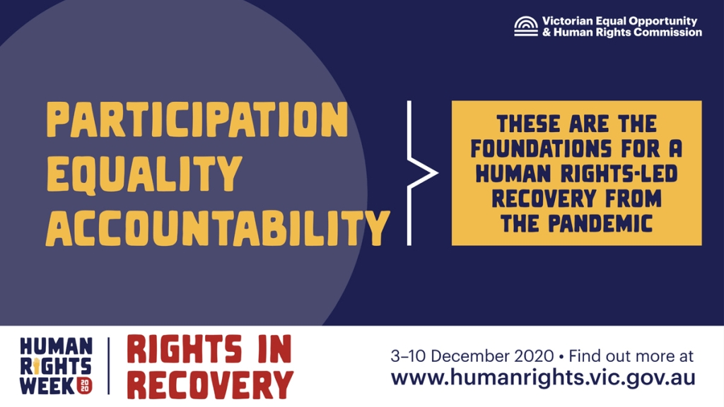 Human Rights Week 2020 - Rights in Recovery