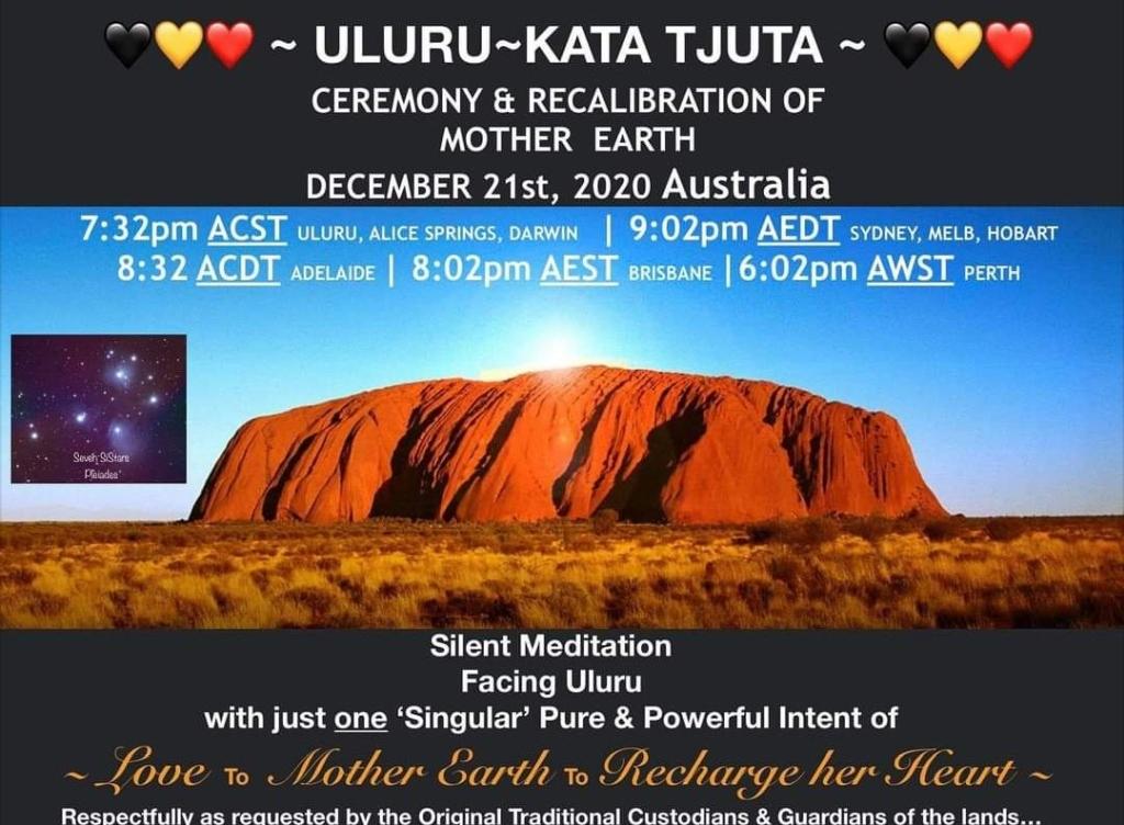 Meditation for Uluru/Kata Tjuta 21 December