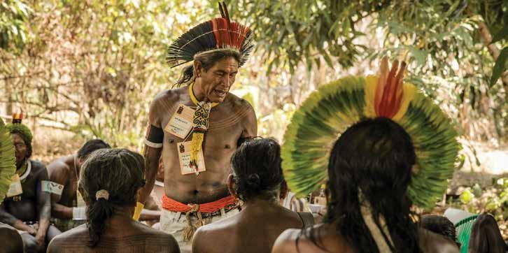 Forest management workshop, Wajãpi village, Brazilian Amazon. Courtesy of nature.org.