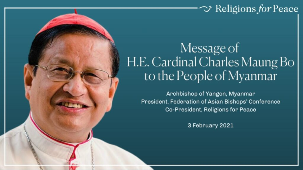 Message of Cardinal Charles Maung Bo to the People of Myanmar