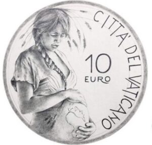 "Vatican mint issuing a €10 silver coin depicting ""Mother Earth"""