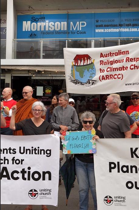 Multi-faith leaders outside the Prime Minister's Office