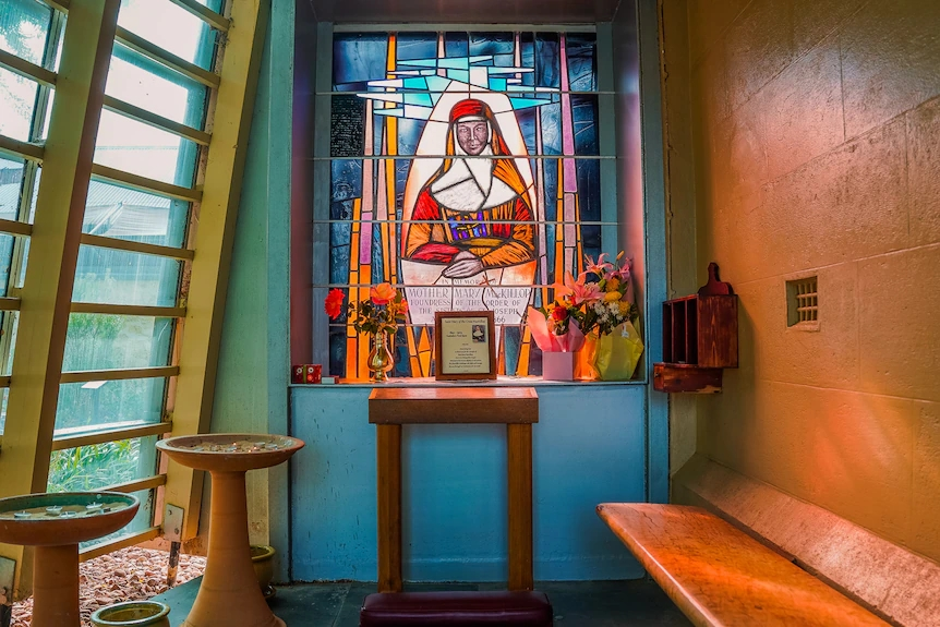 A shrine dedicated to Australia's only saint, Mary MacKillop,