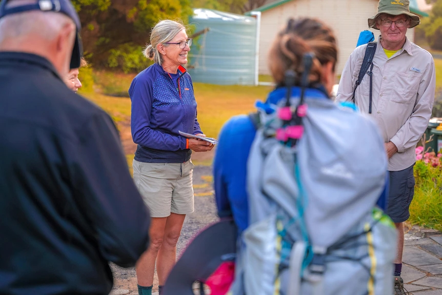 Sue Fitcher leads the Aussie Camino