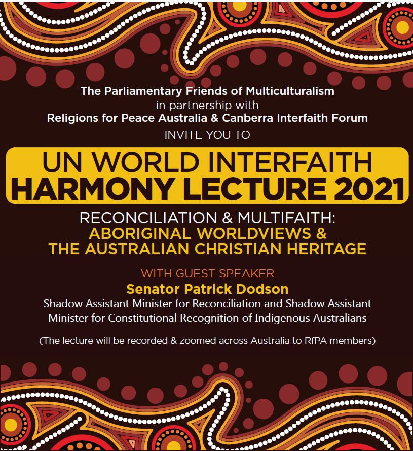 World Interfaith Harmony Week Canberra 2021
