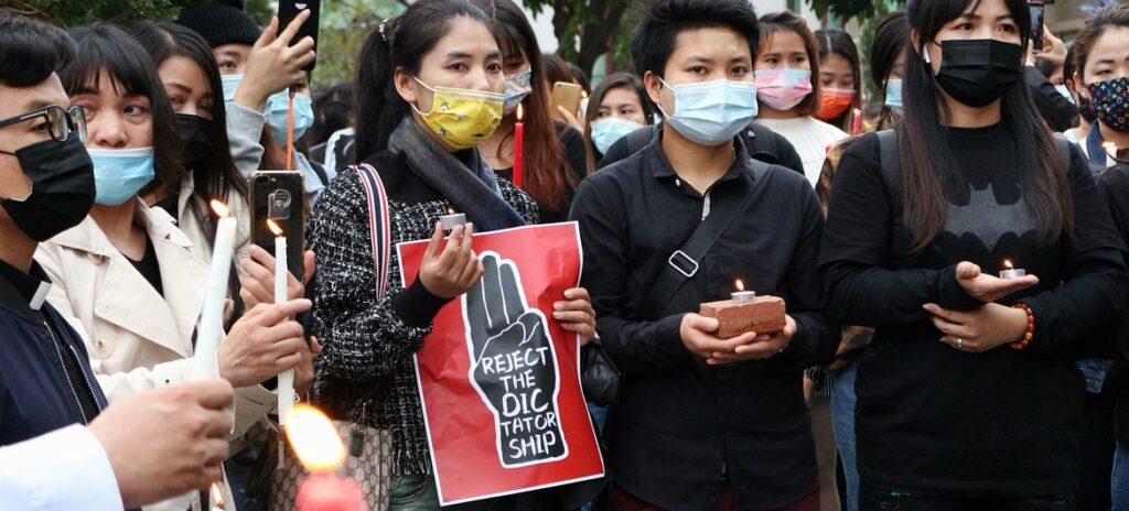 A vigil takes place in Macau,