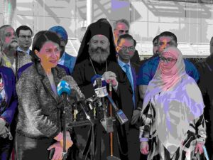 NSW Premier Gladys Berejiklian pictured with various community and religious leaders